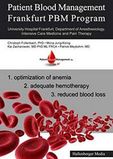 Titelseite der Publikation Patient Blood Management - Frankfurt PBM Program (English Edition)